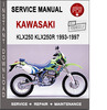 Thumbnail Kawasaki KLX250 KLX250R 1993-1997 Service Repair Manual PDF