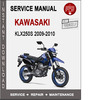 Thumbnail Kawasaki KLX250S 2009-2010 Service Repair Manual PDF