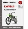 Thumbnail Kawasaki KLX450R 2008-2011 Service Repair Manual PDF