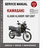 Thumbnail Kawasaki KLX650 KLX650R 1987-2007 Service Repair Manual PDF