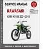 Thumbnail Kawasaki KX85 KX100 2001-2010 Service Repair Manual PDF