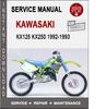 Thumbnail Kawasaki KX125 KX250 1992-1993 Service Repair Manual PDF