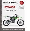 Thumbnail Kawasaki KX250F 2004-2005 Service Repair Manual PDF