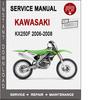 Thumbnail Kawasaki KX250F 2006-2008 Service Repair Manual PDF