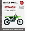 Thumbnail Kawasaki KX250F 2011-2012 Service Repair Manual PDF