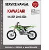 Thumbnail Kawasaki KX450F 2006-2008 Service Repair Manual PDF