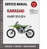 Thumbnail Kawasaki KX450F 2012-2014 Service Repair Manual PDF