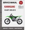 Thumbnail Kawasaki KX450F 2009-2010 Service Repair Manual PDF