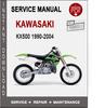 Thumbnail Kawasaki KX500 1990-2004 Service Repair Manual PDF