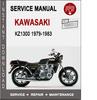 Thumbnail Kawasaki KZ1300 1979-1983 Service Repair Manual PDF