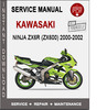 Thumbnail Kawasaki Ninja ZX6R (ZX600) 2000-2002 Service Repair Manual