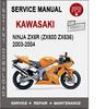 Thumbnail Kawasaki Ninja ZX6RR 2003-2004 Service Repair Manual PDF