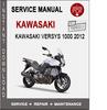 Thumbnail Kawasaki Versys 1000 2012 Service Repair Manual PDF
