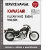 Thumbnail Kawasaki Vulcan Vn500 ( EN500 ) 1996-2008 Service Manual