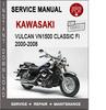 Thumbnail Kawasaki Vulcan VN1500 Classic Fi 2000-2008 Service Manual