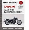 Thumbnail Kawasaki Vulcan VN1500 Classic Tourer 1998-2001 Service Manu