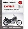 Thumbnail Kawasaki Vulcan VN750 1985-2001 Service Repair Manual PDF