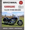 Thumbnail Kawasaki Vulcan VN1600 2003-2004 Service Repair Manual PDF