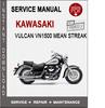 Thumbnail Kawasaki Vulcan VN1500 Mean Streak Service Repair Manual PDF