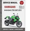 Thumbnail Kawasaki Z750 2007-2012 Service Repair Manual PDF