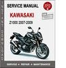 Thumbnail Kawasaki Z1000 2007-2009 Service Repair Manual PDF