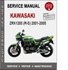 Thumbnail Kawasaki ZRX1200 (R-S) 2001-2005 Service Repair Manual PDF