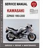 Thumbnail Kawasaki ZZR600 1993-2000 Service Repair Manual PDF