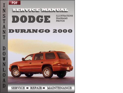 dodge durango 2000 factory service repair manual download downloa rh tradebit com 2000 Dodge Durango Manual Online 2000 dodge durango repair manual pdf