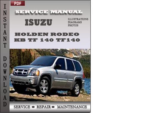 holden rodeo kb tf 140 1990 2004 repair service manual pdf