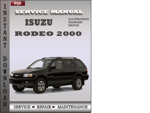 isuzu vehicross service repair workshop manual 1999 2001