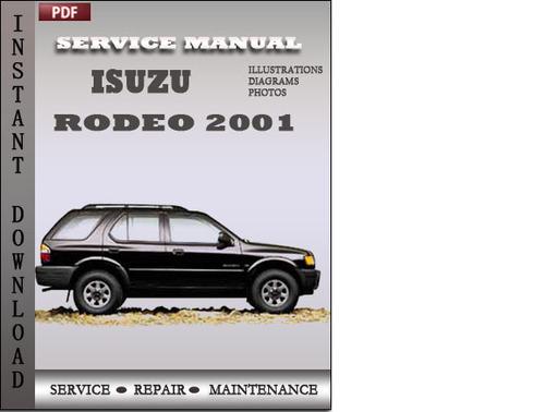 isuzu rodeo 2001 factory service repair manual download download rh tradebit com New Isuzu KB 300 1998 Isuzu KB
