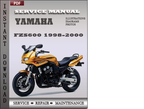 yamaha fzs600 1998 1999 2000 factory service repair manual. Black Bedroom Furniture Sets. Home Design Ideas