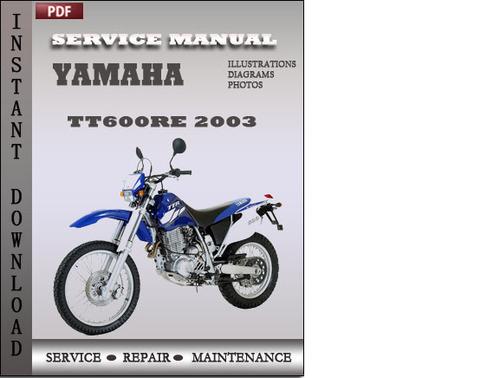 yamaha tt600re 2003 factory service repair manual download. Black Bedroom Furniture Sets. Home Design Ideas