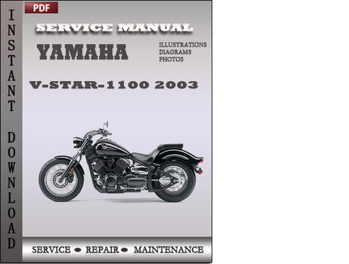 yamaha v star 1100 2003 factory service repair manual. Black Bedroom Furniture Sets. Home Design Ideas