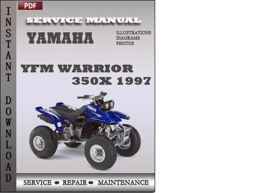 yamaha yfm warrior 350x 1997 factory service repair manual