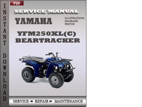 Yamaha Yfm250xl C  Beartracker Factory Service Repair
