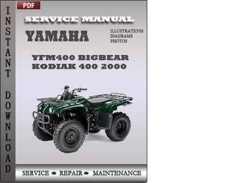 yamaha yfm400 bigbear kodiak 400 2000 factory service. Black Bedroom Furniture Sets. Home Design Ideas