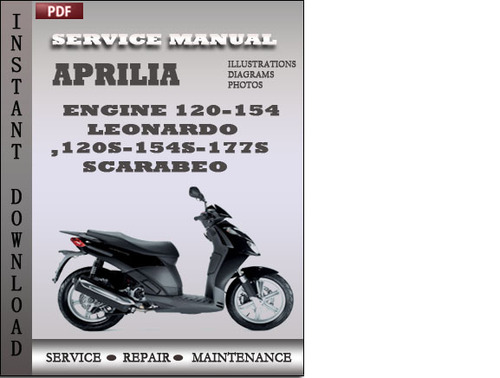 pay for aprilia engine 120-154 leonardo 120s-154s-177s scarabeo factory  service