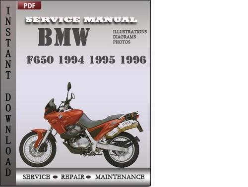 Bmw F650 1994 1995 1996 Factory Service Repair Manual