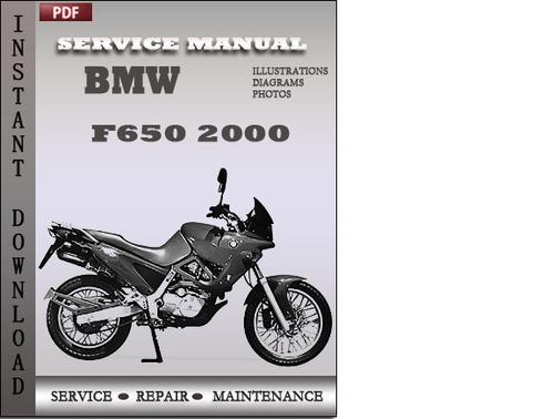 Bmw F650 2000 Factory Service Repair Manual Download