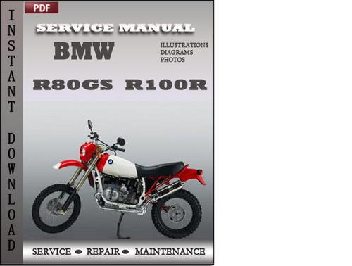 Bmw R80gs R100r Factory Service Repair Manual Download