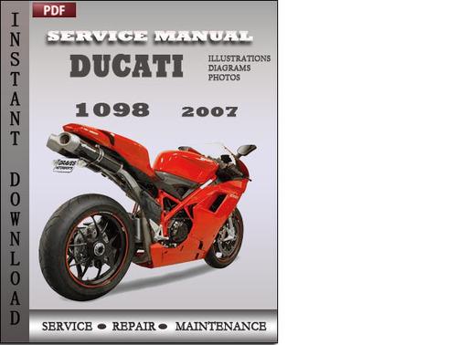 ducati 1098 2007 factory service repair manual download download rh tradebit com ducati 1098 owners manual pdf ducati streetfighter 1098 owners manual
