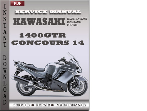 kawasaki 1400gtr concours 14 factory service repair manual download rh tradebit com 2009 concours 14 service manual 2009 kawasaki concours owners manual