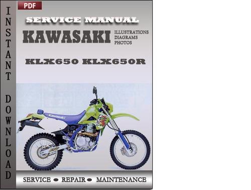 kawasaki klx650 klx650r factory service repair manual download do rh tradebit com KLX 650 Review KLX 650 Review