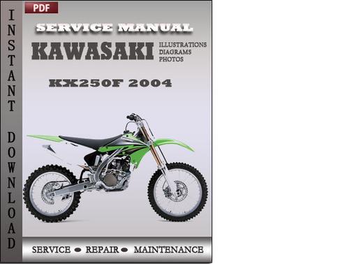 kawasaki kx250f 2004 factory service repair manual download downl rh tradebit com 2004 kx250f workshop manual 2004 kawasaki kx250f service manual