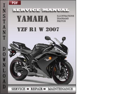 yamaha yzf r1 w 2007 factory service repair manual. Black Bedroom Furniture Sets. Home Design Ideas