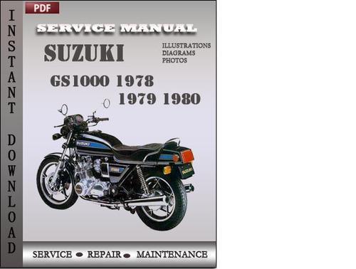 suzuki gs1000 1978 1979 1980 factory service repair manual. Black Bedroom Furniture Sets. Home Design Ideas