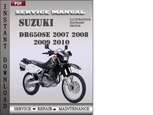 suzuki dr650se 2007 2008 2009 2010 factory service repair manual do 2006 Suzuki RMZ 250 Specs Wrecked Suzuki RM-Z250