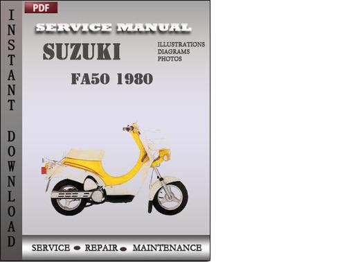 suzuki fa50 1980 factory service repair manual download. Black Bedroom Furniture Sets. Home Design Ideas