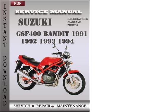 suzuki gsf400 bandit 1991 1992 1993 1994 factory service repair man rh tradebit com Suzuki Motorcycle Manuals PDF Suzuki Repair Manual